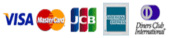 使用可能なクレジットカード:VISA / MasterCard / JCB / AmericanExpress / DinersClub